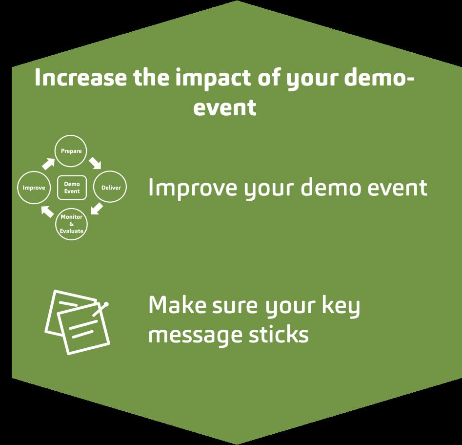 Increase impact of demo