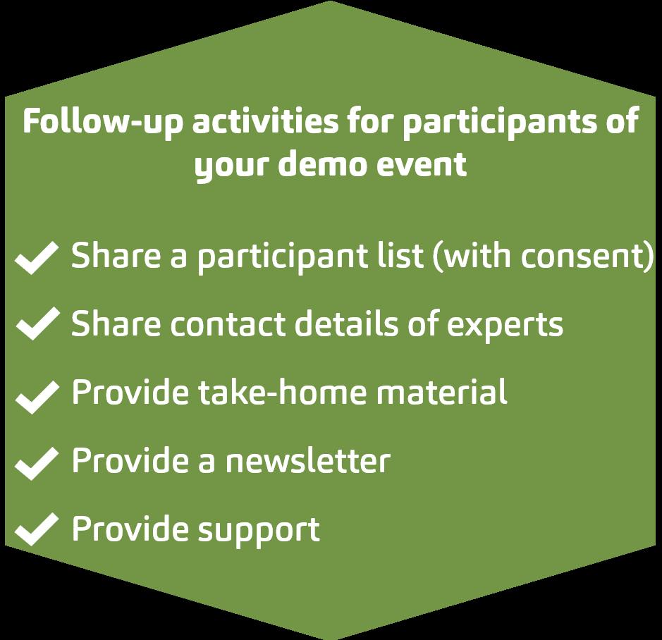 follow up for participants