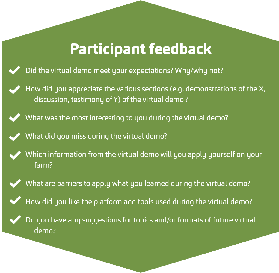 Participant feedback